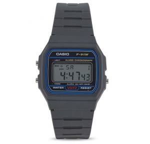 Casio Mens Resin Band Digital Watch F-91W-1DG (TH)