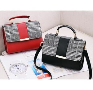 2 in 1 Korean style women fashion cross body Bag Black & Red