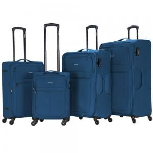 Viptour 4 Pcs 20 inch, 24 inch, 28 inch and 32 inch Light Weight Trolley, VT-A384, Blue