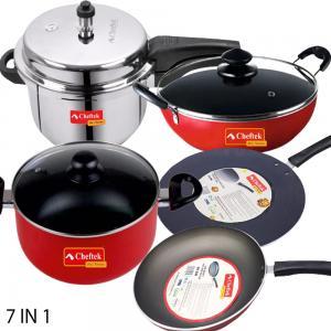 Cheftek 7pcs Non stick Cookware Set