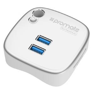 Promate USB Dock, Multi function Microsoft Surface Pro 4/3 USB 3.0 Docking Station with Dual USB 3.0 Port, Gigabit Ethernet Port, SD/MicroSD Slot and Pen Holder, SURFACEHUB