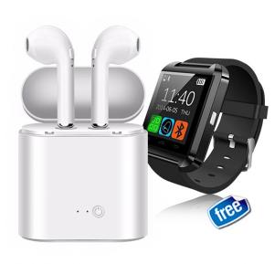 2 In 1 Bundle Offer Twin Bluetooth Headset With Power Bank And Get Bluetooth Smart Watch Free