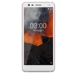 Nokia 3.1 4G Smartphone, 5.2 Inches Display, Android 8.1, 2GB RAM, 16GB Storage, Dual Sim, Dual Camera - White Iron
