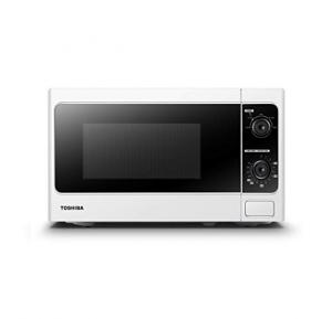 Toshiba MM-MM20P(WH) Microwave Oven - M Series - 20 Liter Capacity - Up To 800W Power - Push Button - Easy Operation - Manual Function Buttons - White