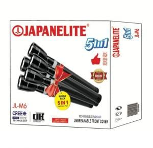 Japanelite 5 in 1 Rechargeable LED Flashlight JL-M6