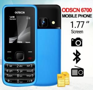 ODSCN 6700 Mobile Phone, 1.77 Inch Display, Dual SIM, Camera - Blue