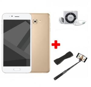 Crescent Air 4 Smartphone, Android 6.0, 5.5 Inch HD Display, 2GB RAM, 16GB Storage, Dual Camera, Wifi- Gold And Get Free Mp3 Player, Selfie Stick, Mobile Grip