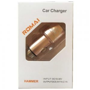 Romai Car Charger Double Usb Dc 5.0V, Hammer