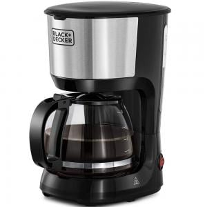 Black and Decker DCM600-B5 10 Cups Drip Coffee Maker With Glass Carafe 1.25L 750W, Black