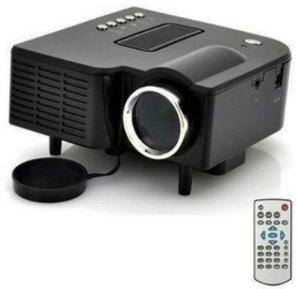 BSNL A8 Mini Projector, HDMI, AV, USB, SD Card Slot Black