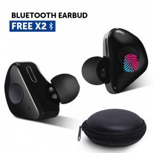 Bison Wireless Sport Truly Wireless In-EAR Headphone,  X2 -Black
