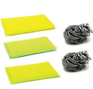 Royalford 3 Pieces Sponge & 2 Pieces Scourers Set, RF7573