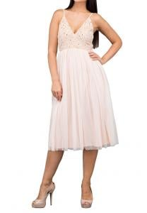 TFNC London Irina Midi Party Dress Pink - LNB 45270 - L