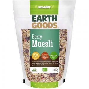 Earth Goods Organic Gluten-Free Berry Muesli 340g, 15528