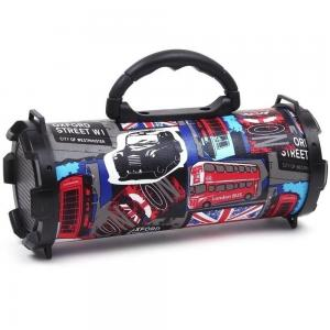 Graphics Design Fashionable Rechargeable Bass Bluetooth Speaker Supports FM Radio, Aux In, USB & SD Card, Assorted Design
