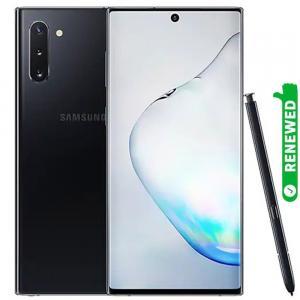 Samsung Galaxy Note 10 Dual SIM Aura Black 8GB RAM 256GB Storage 4G LTE, Renewed