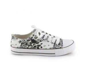 OKKO flower pattern girls sneaker - GH-826, Grey size-37