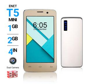 2 In 1 Bundle Enet T5 Mini 3G Smartphone – Gold And Power Box 15000 mAh Power Bank