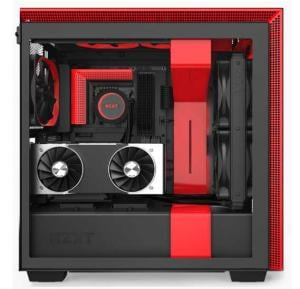 ATX Case NZXT H710i Mid Tower PC Gaming Case, Black/Red, CA-H710i-BR