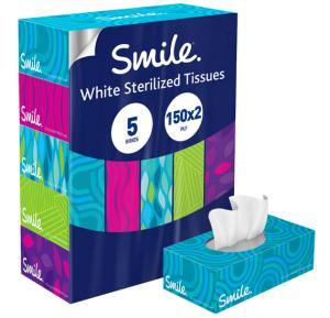 Smile Facial Tissues 150x2ply New Look