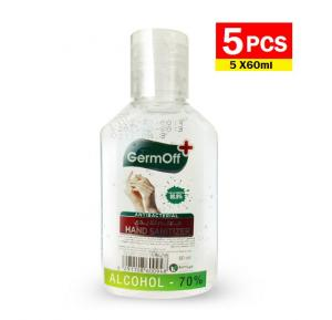 Germoff Plus 5 Piece Antibacterial Hand Sanitizer Gel, 60 ml