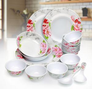 OSP Melamine Wares Dinner Sets,22 Pcs,Rmds 9722
