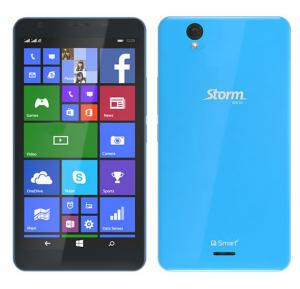 Q-smart Storm w510 3G Smartphone 5 Inch Display,1 GB RAM, 4GB Storage, Quad Core 1.2,Dual Camera,Dual sim Windows 8.1- Blue