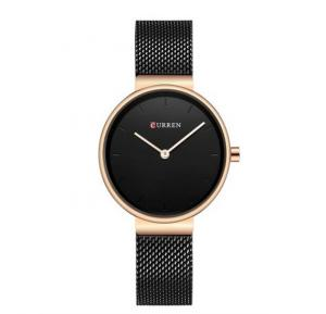 Curren Quartz Wristwatches For Women, 9016, Black
