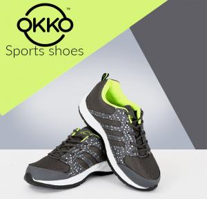 Okko DEP-01 Sports Running Shoes - 44, Gray Green