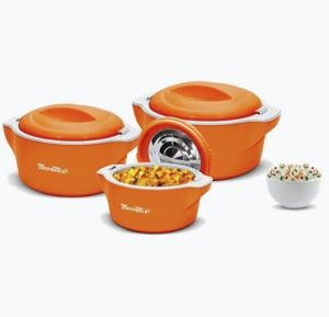 Meenumix Plaza Casserole 3Pcs Set Junior. 600/1000/2000ML, PL3PJR