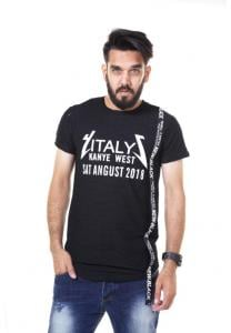 Kenyos Short Sleeve T-Shirt For Men Black - NAABF31629X - M