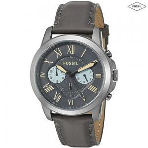 Fossil Grant Chronograph Gunmetal Dial Mens Watch, FS5183