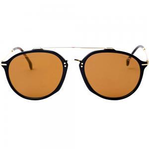 Carrera 171/S Black Aviator Sunglasses for unisex Brown Lens, Size 55