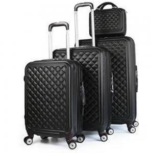 Royal Travel 4 Piece Hardside Luggage Travel Trolley Bag Set, Black