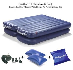 Restform Inflatable Airbed Double Bed Size Matress With Electric Air Pump & Carry Bag
