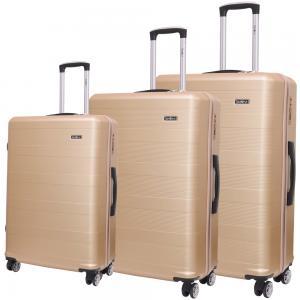 Traveller ABS 4 Wheel Premium Luggage Trolley 3pcs Set, Pink, TR-3300
