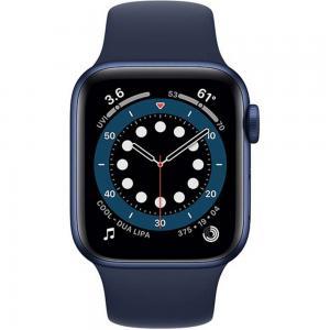 Apple Watch Series 6-40 mm GPS Blue Aluminium Case with Deep Navy Sport Band