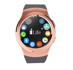 i-life Zed Watch R  1.3 Inch Round Smart Watch, Gold