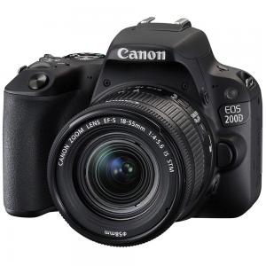 Canon EOS 200D DSLR Camera with EF-S 18-55mm IS STM Lens Kit, 24.2 MP, Black