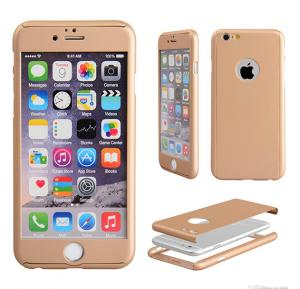 Apple compatible 360 degree protective Case for I phone 6 and 6s Gold