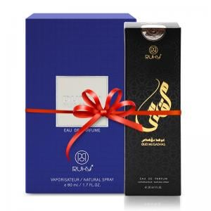2 in 1 Bundle Pack Ruky Oud Muqadhas Eau De Parfum 30ml and Ruky Dutch Blue Edition Perfume 80 ml