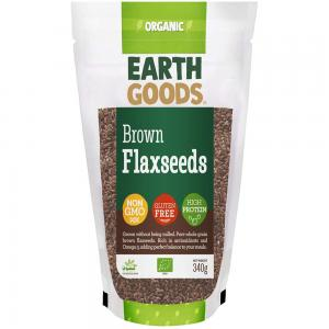 Earth Goods Organic brown Flaxseeds, NON-GMO, Gluten-Free, High Protein 340g, 15502