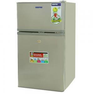 Geepas 125L DoubleDoor Silver Defrost Refrigerator 1x1, GRF1259GPE