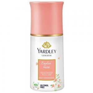 Yardley English Musk Anti Perspirant Deodorant Roll On for Women, 50ml