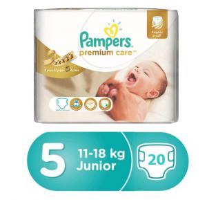 Pampers Premium Care Carry Pack 11-18Kg, CP-20 Count (1x20Pcs)
