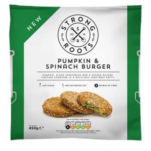 Strong roots Pumpkin & Spinach Burger, 20009