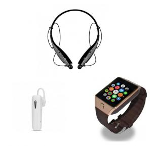 3 In 1 Bundle DZ09 Bluetooth Smartwatch , Smart Bluetooth Stereo Headset And Bluetooth Wireless Stereo Headphone