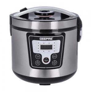 Geepas GMC35031 1.8L Electric Pressure Cooker Silver with Black