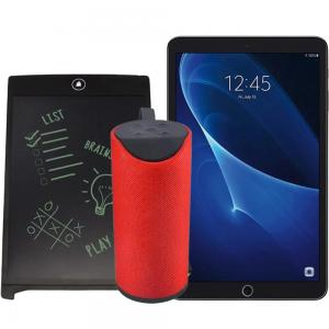 3 In 1 Combo of G Touch G2000 10 Inch Tablet, 4GB RAM 64GB Storage 4G Smart Tablet PC Assorted, Portable Electronic LCD Writing Tablet, With 8.5 Inch Screen And TG113 Bass Splashproof Wireless Bluetooth Speaker