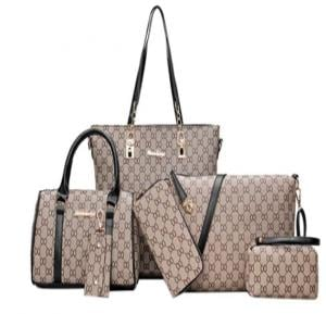 Generic 6pcs Bag Set - Light Brown Coach Design